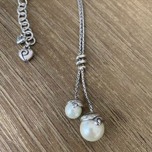 Brighton Retired Double Pearl Necklace